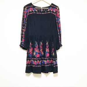 Free People. Size small. Black soft thin flower